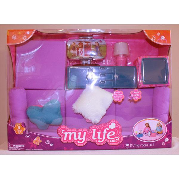 """mi vida como 18"""" american girl doll salón silla sofá cama sofá"""
