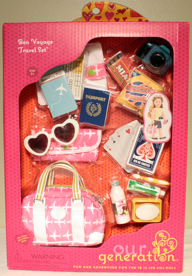 Our Generation All American Girl Doll Bon Voyage Travel